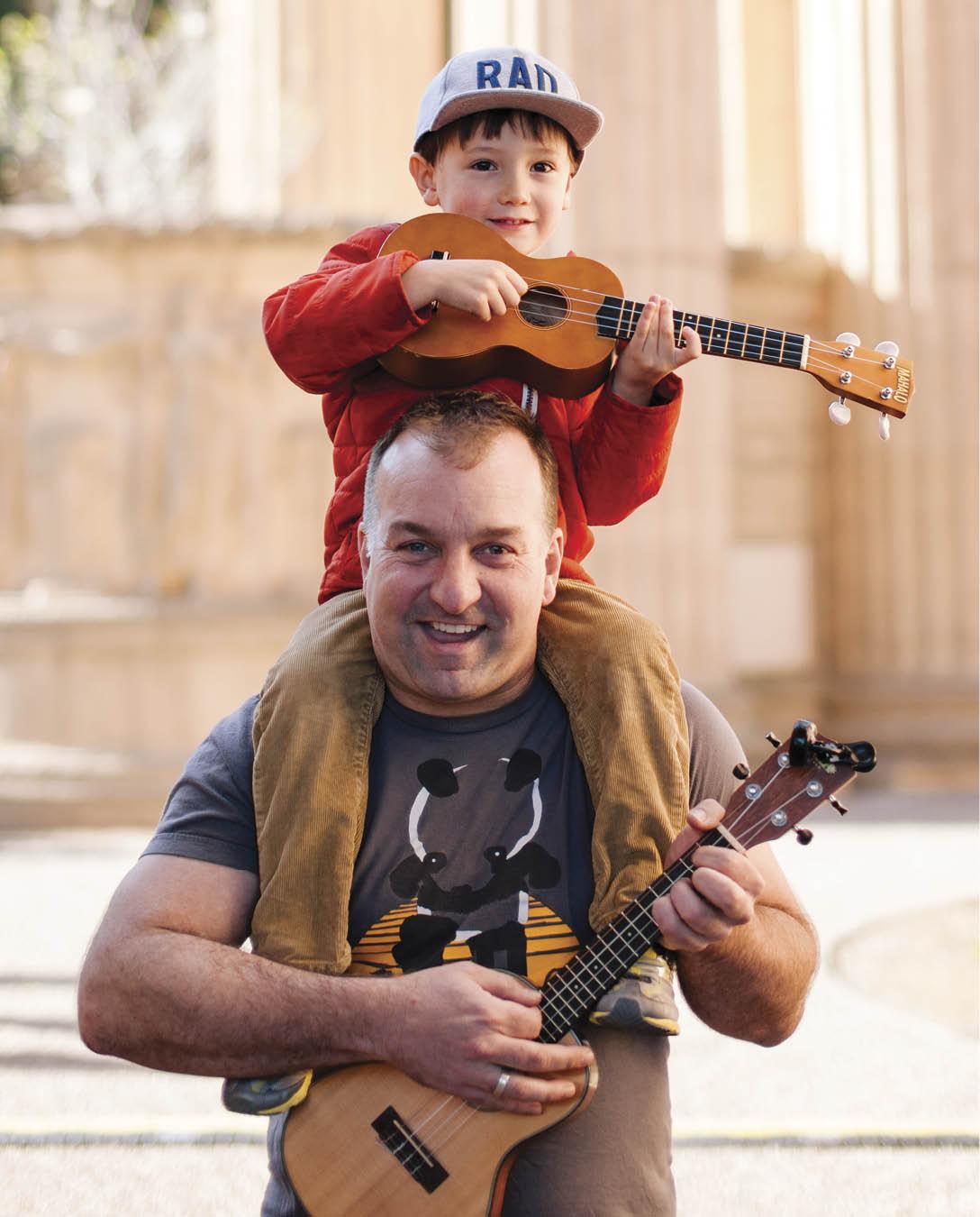 Calum Grant, with son Erickson