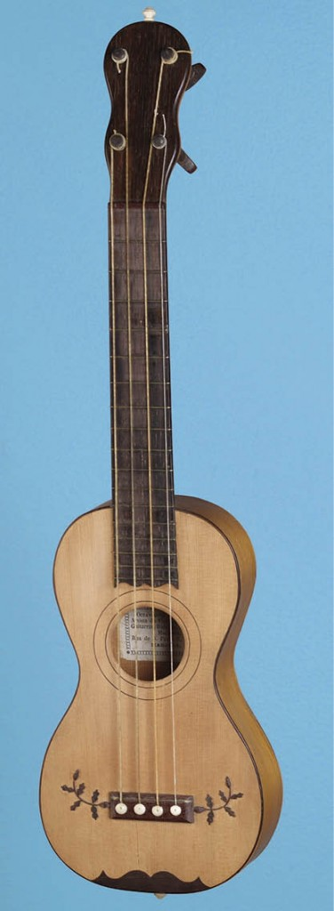 A machete made on the island of Madeira by Octavianno Joao Nunes da Paixao (1812–1874), one of Madeira's most accomplished instrument makers