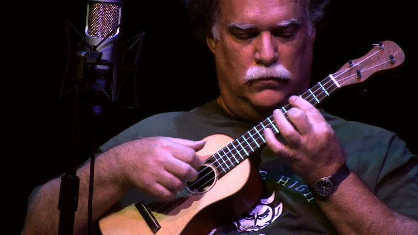 John King. A still image from the film Mighty Uke, mightyukemovie.com