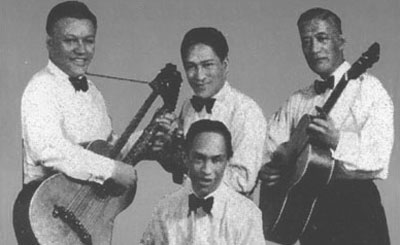 Kalama's Quartet, in one of the only known photos of the group.