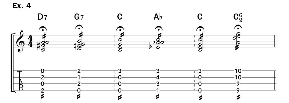 kani ka pila lesson ukulele hawaii jam session example 4 d