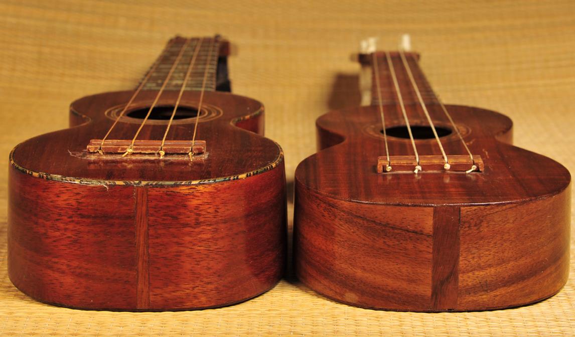 two Echo Ukes Vintage Ukulele