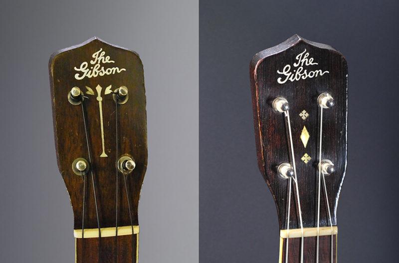 gibson ukulele Older and Newer Style 3 Comparison
